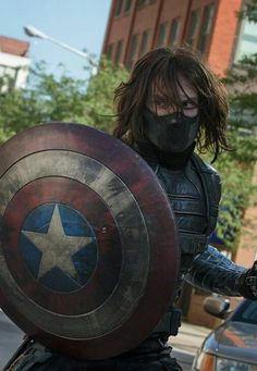 My favorite still from Captain America the Winter Soldier! Bucky Barnes is awesome.