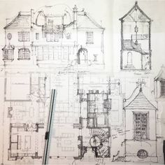 Ts adams studio architects ( Concept Models Architecture, Architecture Drawings, Architecture Design, Vintage Architecture, Cottage Design, House Design, Hipster Graphic Tees, Architect Drawing, Rustic Exterior