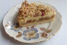 Rhabarberkuchen mit Quarkcreme und Streuseln Tiramisu, French Toast, Pie, Breakfast, Desserts, Ethnic Recipes, Food, Tags, Cupcake
