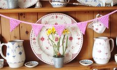 Mini Bunting - Pink Gingham & Floral £5.00 #CRAFTfest