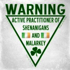 Warning - Pride of the Irish FB