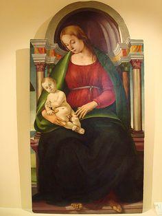 Signorelli (LUCA SIGNORELLI pseudonimo di Luca d'Egidio di Ventura, Cortona, 1445 circa – Cortona, 16 ottobre 1523):  Madonna con Bambino  (Museo Montepulciano)
