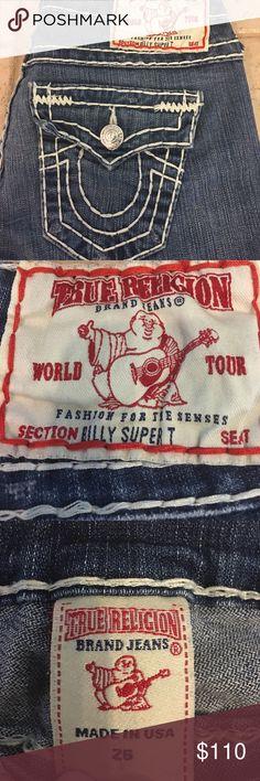 Selling this True Religion Billy Super T size 26x33  jeans on Poshmark! My username is: runnerprincess. #shopmycloset #poshmark #fashion #shopping #style #forsale #True Religion #Denim