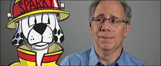 """Steve Dornbusch """"Sparky's Dad"""" and Sparky the Fire Dog"""
