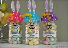 Easter bunny bottles