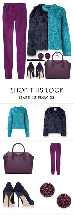 """""""How to style a Faux Fur"""" by stavrolga on Polyvore featuring Dolce&Gabbana, MANGO, Givenchy, Emilio Pucci, Jimmy Choo, H&M, NARS Cosmetics, fauxfur, polyvoreeditorial and holidaystyle"""