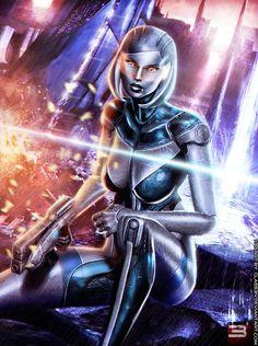 EDI: UNSHACKLED A.I. - Mass Effect 3 by Eddy-Shinjuku.deviantart.com on @deviantART
