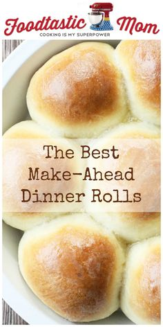 Make Ahead Dinner Rolls - Foodtastic Mom - Bread Recipes Bread Bun, Bread Rolls, Thanksgiving Recipes, Holiday Recipes, Thanksgiving 2016, Bread Recipes, Cooking Recipes, Healthy Recipes, Dinner Rolls Recipe