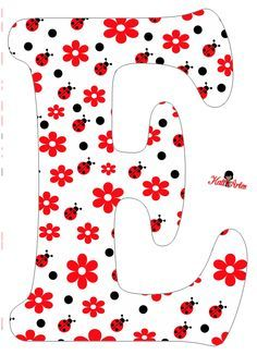 Flowers and Ladybugs Free Alphabet. Alfabeto de Flores y Mariquitas. Baby Crafts, Diy And Crafts, Scrapbook Letters, Boarder Designs, Alphabet Templates, Alphabet Pictures, Ladybug Party, Alphabet And Numbers, Letter Art