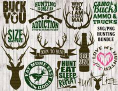 hunting svg bundle, deer svg, buck svg, antler svg, hunting clipart, hunter svg, country svg, tshirt designs, vinyl cut files, vector art from goodsbygirl on Etsy Studio