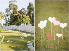 9 camino corazones boda decoracion