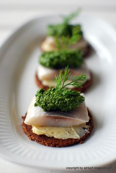 Herring with Dill Pesto
