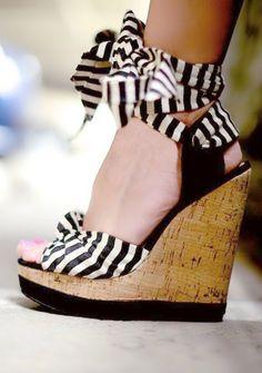 Cute stripe wedges