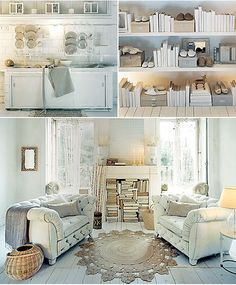 White and neutral with lots of books. From Zara Home collection by the style files,
