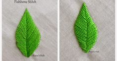 I have prepared a list of possible stitches that can be used for embroidering leaves here     The first stitch that comes to my mind with t...