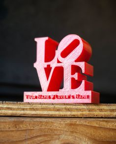 Personalize 3D Printed LOVE Sculpture by PrintAworldService