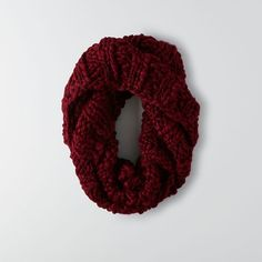 AEO Chunky Ribbed Snood ($30) ❤ liked on Polyvore featuring accessories, scarves, maroon, snood scarves, american eagle outfitters, cable knit scarves and chunky scarves