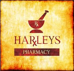 The pestle and mortar is a traditional pharmacy icon as are the letters Rx. Both references might now be considered dated in the mind of the consumer. I am not convinced by the colour palette, I see the shroud of Turin when a look at this image!