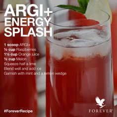 ARGI+ Energy Splash Recipe using Forever Living Product, ARGI+! #ForeverRecipe