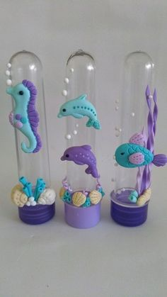 6th Birthday Parties, Birthday Party Decorations, Party Themes, Little Mermaid Parties, The Little Mermaid, Diy And Crafts, Crafts For Kids, Fondant Animals, Cute Polymer Clay