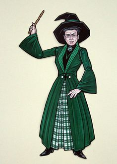 Minerva McGonagall Articulated Paper Doll by ArdentlyCrafted