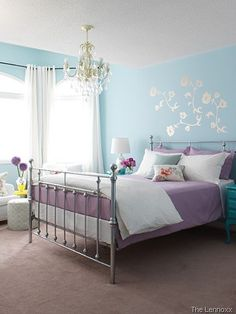 Decorating With Turquoise Teal And Purple Baby Blue Bedrooms S Bedroom
