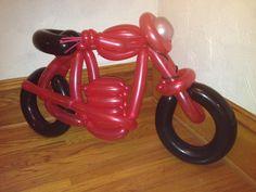 motorcycle balloon art made by Zany Janie
