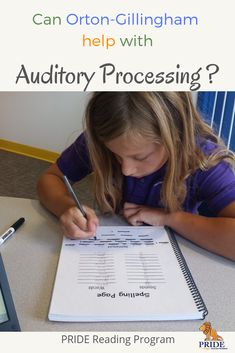 Can Orton-Gillingham help auditory processing? YES, it will help a lot. On this post, I am going to explain to you why it helps these students best. #ortongillingham #auditoryprocessing #parenting #kids #education #sped #literacy via @pridereading Auditory Processing Activities, Speech Therapy Activities, Language Activities, Teaching The Alphabet, Teaching Writing, Teaching Ideas, Resource Teacher, Teacher Resources, Kids Education