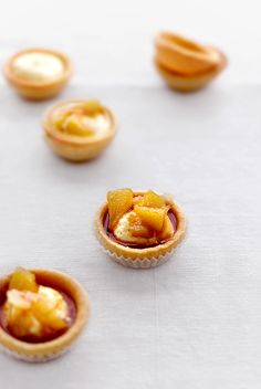 Caramelized Pears, Goat Cheese And Chocolate Tartlets Recipe ...