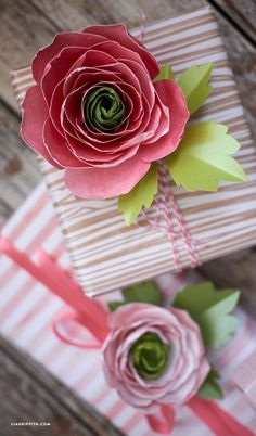Handcrafted lifestyle expert Lia Griffith shows you how to make paper ranunculus flowers for your spring and summer home decor, or as a pretty gift topper!