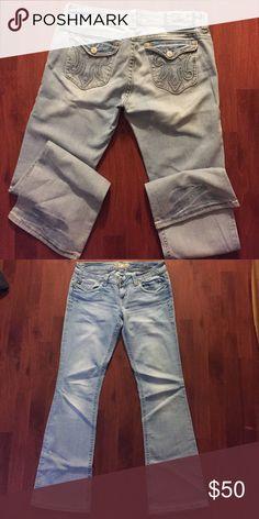 "MEK denims ""St.Thomas"" women's 36"" tall Stretch MEK denims tall light blue! MEK Jeans Boot Cut"