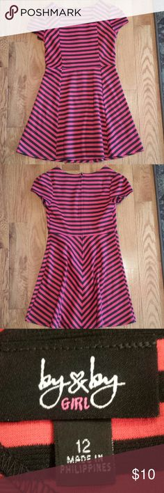 Girls Black and Red Dress Girls black and red short sleeved dress; Tag says Size 12, but more like a 10.  Like new!! By and By Girl Dresses Casual