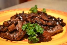 Beef Medallions and Mushrooms in Red Wine Sauce 5 star recipe