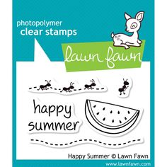 Lawn Fawn Clear Stamps 3x2inch - Happy Summer