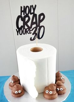 """Personalized """"Holy Crap You Are ."""" Birthday Cake Topper - Over the Hill . - Personalized """"Holy Crap You Are …"""" Birthday Cake Topper – Over The Hill Cake Topper – Poop Ca - Unique Birthday Cakes, Birthday Cake Toppers, Cake Birthday, Funny Birthday Cakes, Adult Birthday Cakes, Humor Birthday, Husband Birthday Cake, 21st Birthday Cake For Girls, Little Girl Birthday Cakes"""