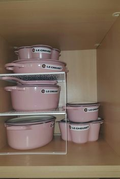 Pink Le creuset  spring  cleaning