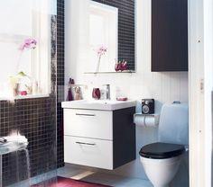 Banheiro em 3 tons! ;)  Você já se cadastrou no bougue? Receba com rapidez orçamentos para construção, reforma, instalação, decoração e muito mais! http://bougue.com.br  #bougue #reforma #decoracao #casa #construcao #inspiracao #dica #reparar #instalar #home #decor #obra #novo #jeito #contratar #prestadores #servico   Via: IKEA