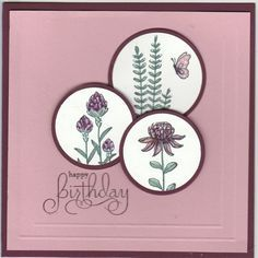 flower cards Flowering Fields by Kathy LeDonne - Cards and Paper Crafts at Splitcoaststampers Making Greeting Cards, Greeting Cards Handmade, Birthday Cards For Women, Happy Birthday Cards, Paper Cards, Diy Cards, Happpy Birthday, Stampin Up Anleitung, Stamping Up Cards
