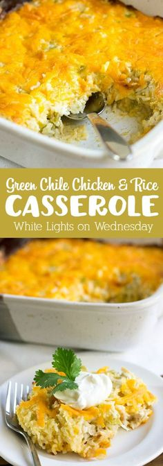 Green Chile Chicken and Rice Casserole is a southwest spin on Southern comfort food your family will ask for time and again!