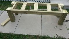 How To Build A Simple Patio Deck Bench Out Of Wood Step By Step ... Deck Seating, Deck Benches, Patio Bench, Patio Gazebo, Backyard Decks, Shed Plans 12x16, Lean To Shed Plans, Free Shed Plans, Diy Porch
