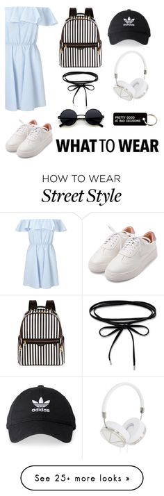 """""""NYC: Street Style"""" by mvarun74 on Polyvore featuring Miss Selfridge, Frends, Henri Bendel, adidas and Various Projects"""