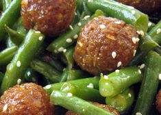 Tempeh is transformed into delectable balls spiced with leek, garlic, cilantro, chili, ginger and lime juice. These Thai spiced tempeh balls are balanced by a miso apple lemongrass glaze and finished with green beans and a sprinkling of sesame seeds