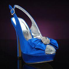 LILIANA PRESSLY-56-BLUE BLUE Wedding and Bridesmaids Shoes BLUE Bridal Shoes: