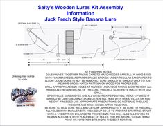 Jack Frech style Banana handcarved plug making kits from Salty's Wooden Lures