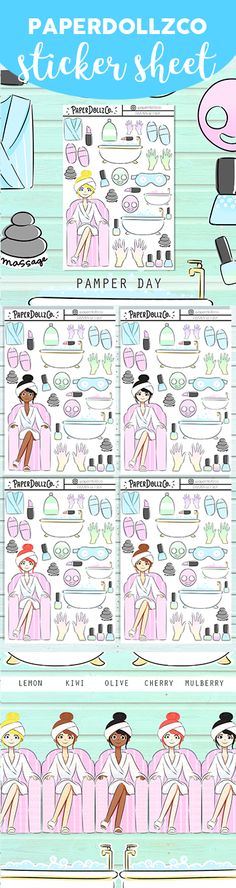 Pamper Functional Stickers