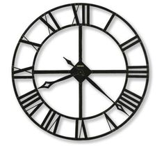 "Howard Miller Lacy Quartz 32"" Wide Wall Clock 