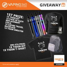Win Free Vape Gear with our Vaping Giveaways in 2019 Giveaway