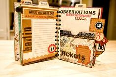 awesome travel journal/scrapbook