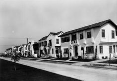 Spanish-style apartments in Leimert Park, a neighborhood of Los Angeles, in 1929: And whats great is that considered part of The South Central area, it still looks this good now.