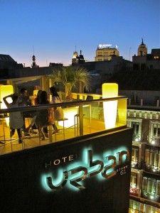 La terraza del Urban  madriddiferente.com/